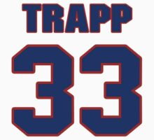 National football player James Trapp jersey 33 by imsport