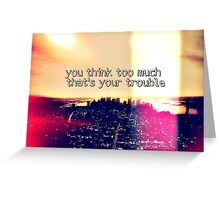 manhattan skyline quote Greeting Card