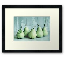 Just Pears Framed Print