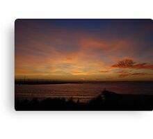 Sunset over Brighton Canvas Print