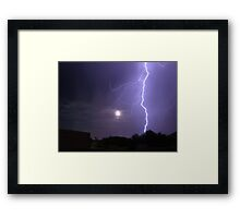 Lunar Strike Framed Print
