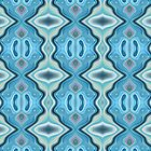 Turquoise Abstract Pattern by Phil Perkins