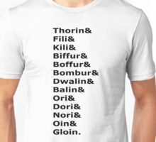 The Dwarves of The Hobbit Unisex T-Shirt