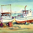 DRY DOCK FISHING BOATS by sharonsharpe