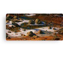Rocks in the Creek #1 Canvas Print