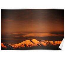 Snow-Capped Sunrise Poster