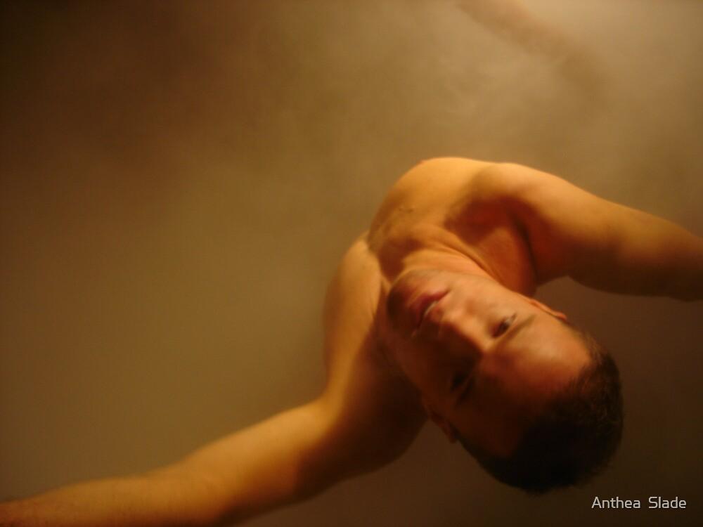 Man in White Steam  by Anthea  Slade