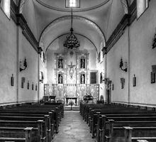 Mission San José Church Interior by Roger Passman