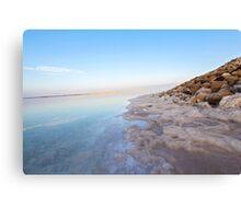 Israel, Dead Sea, salt crystalization Canvas Print