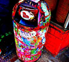 In nyc, even garbage cans are art by ShellyKay