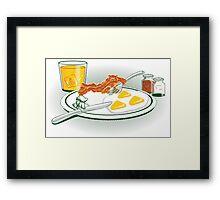 The Legend of Breakfast Framed Print