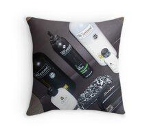 black and white slanted Throw Pillow