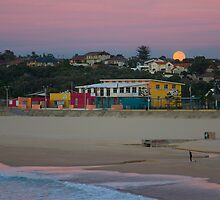 Sunrise or Moonset by Peter Harrison