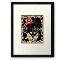 ASL THROWING KISSES and I LOVE YOUs Framed Print