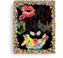 ASL THROWING KISSES and I LOVE YOUs Canvas Print