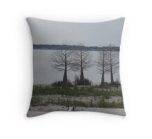 Four Lonely Trees Throw Pillow
