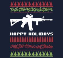 Funny AR-15 Ugly Christmas Sweater T-Shirt and Gifts by Albany Retro