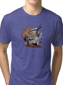 Sam & Max - Door Art Tri-blend T-Shirt