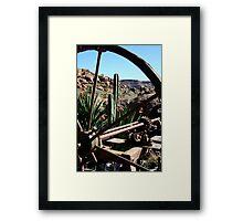 Through The Wagon Wheel Framed Print