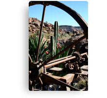 Through The Wagon Wheel Canvas Print