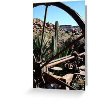Through The Wagon Wheel Greeting Card