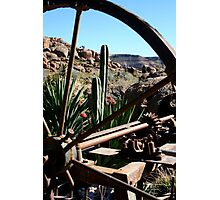 Through The Wagon Wheel Photographic Print