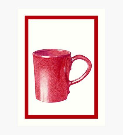 Red Hot Mug Art Print