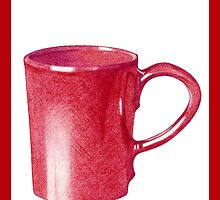 Red Hot Mug by Mariana Musa