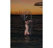 Refreshing Woman Photographic Print