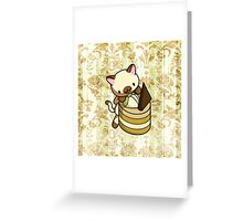 Canelle Apple Kitty Greeting Card