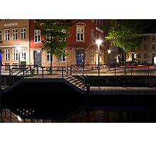 Copenhagen Canal by Night Photographic Print