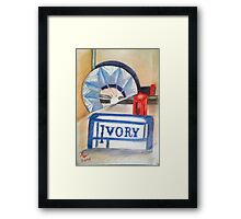 Fan, Ivory, Lipstick Framed Print