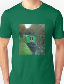Green vintage canal boat T-Shirt