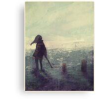 Quiet Down Canvas Print