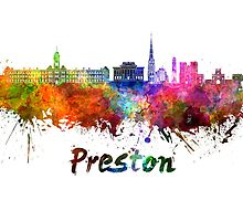 Preston skyline in watercolor by paulrommer