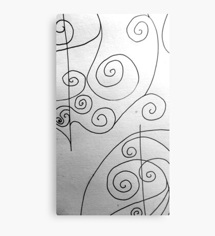 More Sketching Metal Print