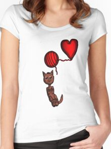 Kitty and Yarn  Women's Fitted Scoop T-Shirt