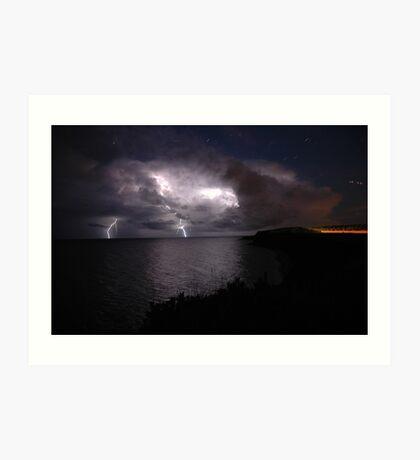 Atlantic Lightning Art Print