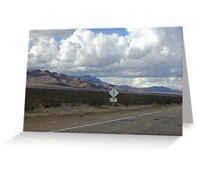 Ivanpah Valley, Mojave Desert, California Greeting Card