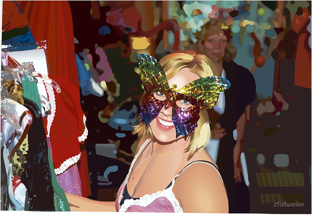 Tiffany at the Key West Mardi Gras by zfollweiler