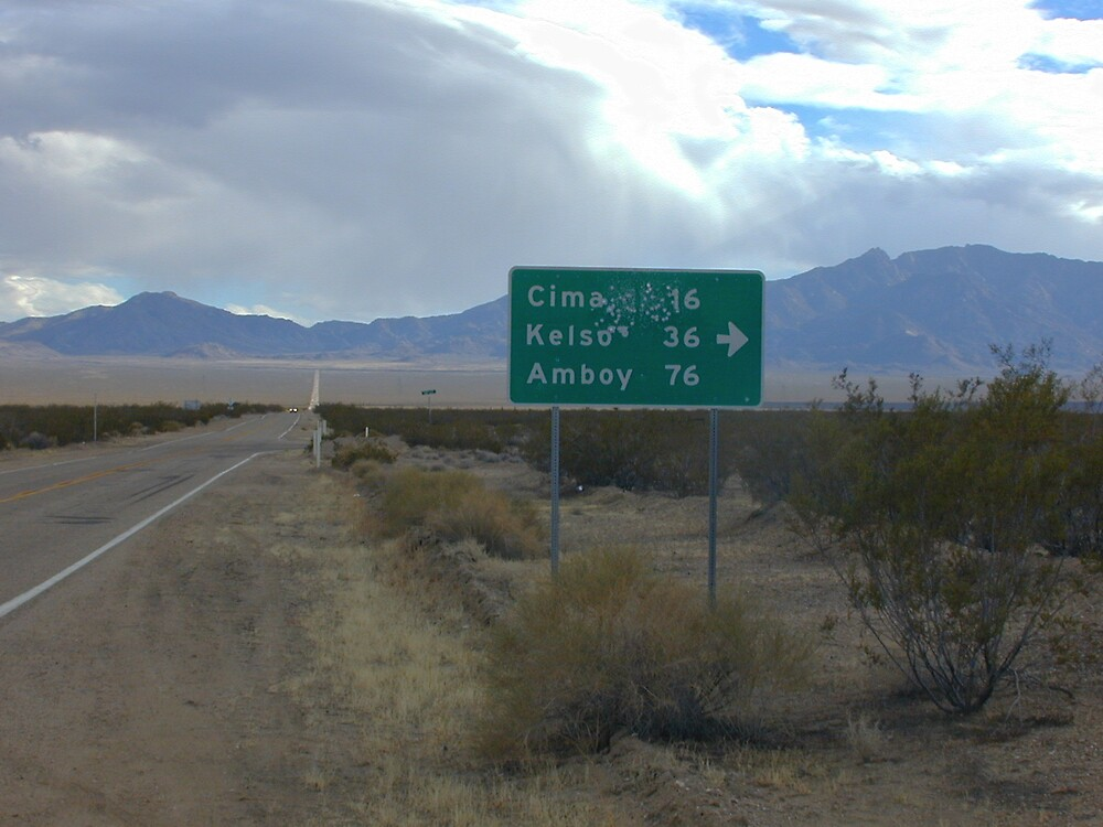 Mojave sign by Chris Clarke