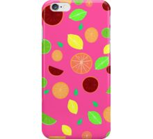 Colorful citrus background (Pink) iPhone Case/Skin