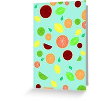 Colorful citrus background Greeting Card