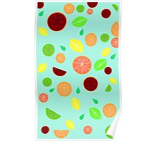 Colorful citrus background Poster