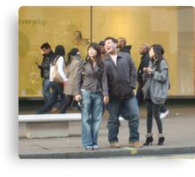 Laughing in Oxford Street Canvas Print