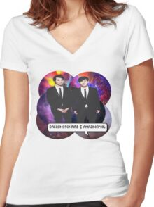 Dan and Phil Women's Fitted V-Neck T-Shirt