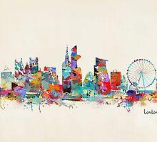 london city skyline watercolor by bri-b