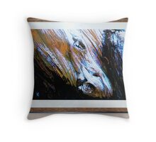 Framed Equine Abstract Throw Pillow
