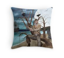 A Pirate And His Treasure Throw Pillow