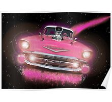 Pink Chevy Poster